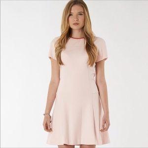 Ted Baker • pink cap sleeve ringer dress